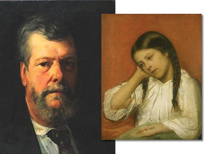 """Димитър Добрович (1816-1905) - един великолепен """"Автопортрет"""" и очарователният """"Портрет на момиче"""", който той рисува в Италия около 1850 г. Снимки: Национална художествена галерия (Квадрат 500)"""