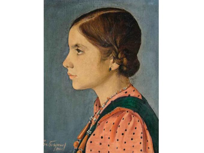 """Посетителите на изложбата на """"Шипка"""" 6 ще могат да видят и този великолепен портрет на момиче от Златю Бояджиев (1903-1976). Снимка: © Сдружение """"Съюз на колекционерите в България"""""""